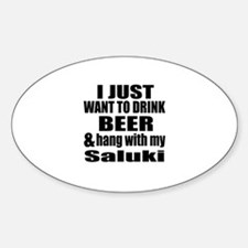 Hang With My Saluki Decal