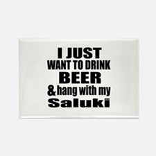 Hang With My Saluki Rectangle Magnet (10 pack)