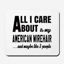All I care about is my American Wirehair Mousepad