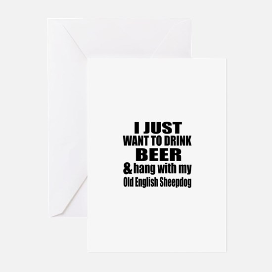 Hang With My Old English Greeting Cards (Pk of 20)