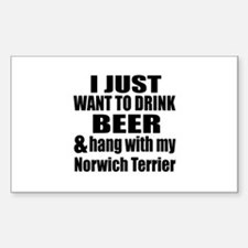 Hang With My Norwich Ter Decal
