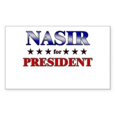 NASIR for president Rectangle Decal