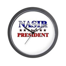 NASIR for president Wall Clock