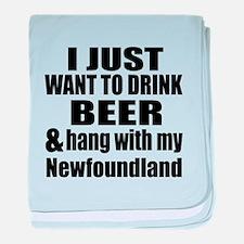 Hang With My Newfoundland baby blanket