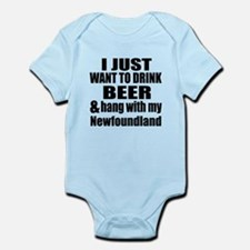 Hang With My Newfoundland Infant Bodysuit