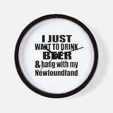 Hang With My Newfoundland Wall Clock