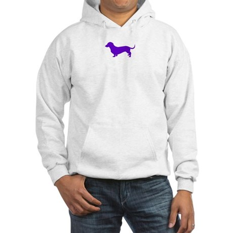Purple Doxie logo only Hooded Sweatshirt