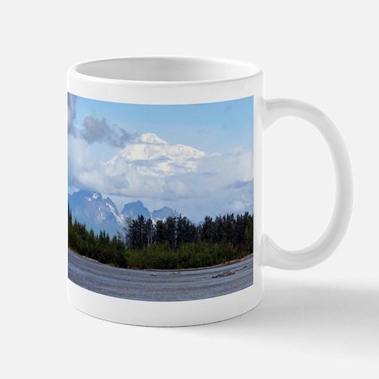 Denali, forest, river, mountains, Alaska 1 Mugs