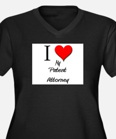I Love My Patent Attorney Women's Plus Size V-Neck