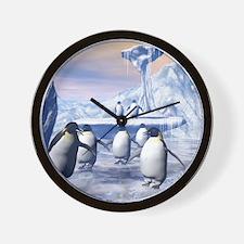 Funny penguins Wall Clock