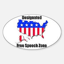 Designated Free Speech Zone Decal