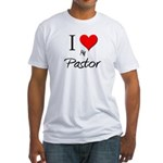 I Love My Pastor Fitted T-Shirt