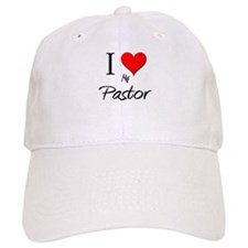 I Love My Pastor Baseball Cap
