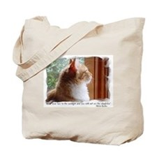 Helen Keller Quote Kitten Tote