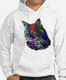 Pop Art Abstract Cat Hoodie