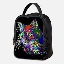 Pop Art Abstract Cat Neoprene Lunch Bag