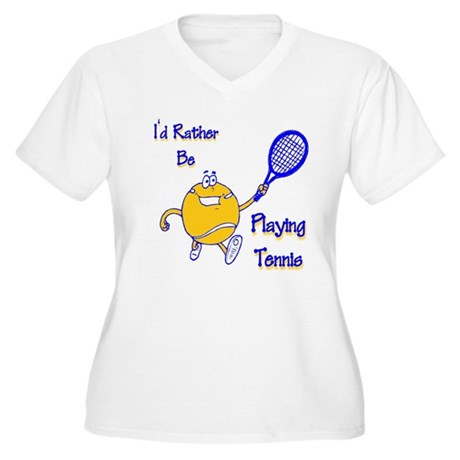 I'd Rather Be Playing Tennis Women's Plus Size V-N