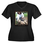 Save a Life = Go to Jail Women's Plus Size V-Neck