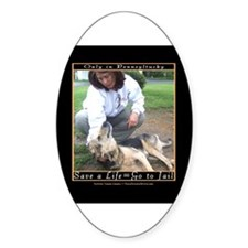 Save a Life = Go to Jail Oval Decal