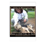 Save a Life = Go to Jail Postcards (Package of 8)