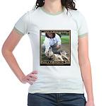 Save a Life = Go to Jail Jr. Ringer T-Shirt