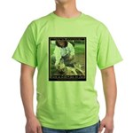 Save a Life = Go to Jail Green T-Shirt