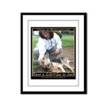 Save a Life = Go to Jail Framed Panel Print