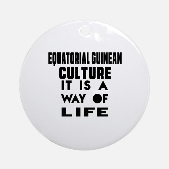 Equatorial Guinean Culture It Is A Round Ornament