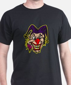 Evil Jester Clown with Pink Hair T-Shirt