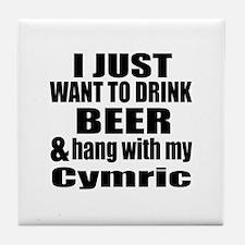 Hang With My Cymric Tile Coaster