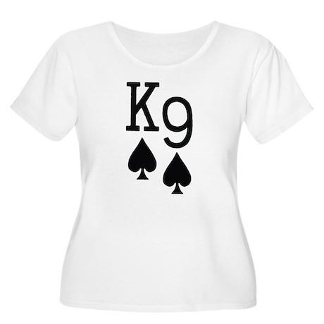 King Nine of Spades Poker Women's Plus Size Scoop