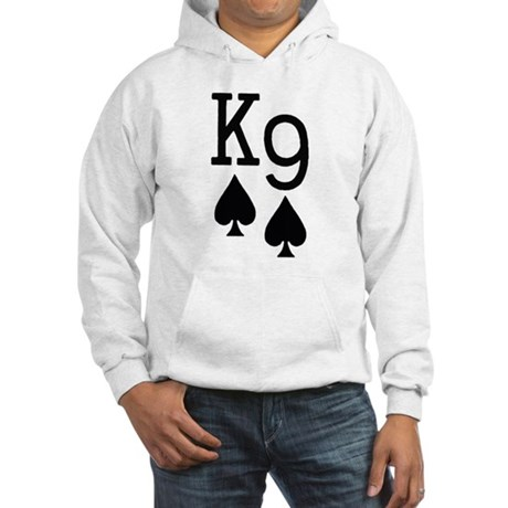 King Nine of Spades Poker Hooded Sweatshirt