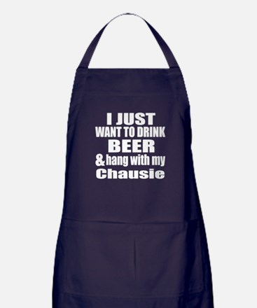 Hang With My Chausie Apron (dark)
