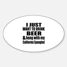 Hang With My California Spangled Decal