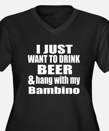 Hang With My Women's Plus Size V-Neck Dark T-Shirt