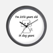 36 Dog Years 6-2 Wall Clock