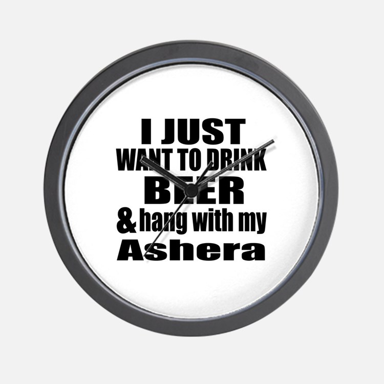 Hang With My Ashera Wall Clock