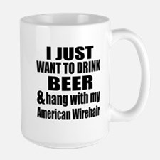 Hang With My American Wirehair Large Mug