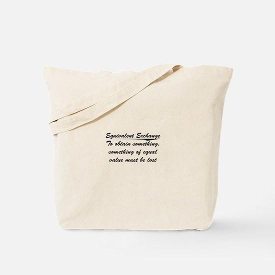Equivalent Exchange Tote Bag