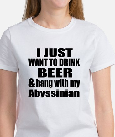 Hang With My Abyssinian Women's T-Shirt