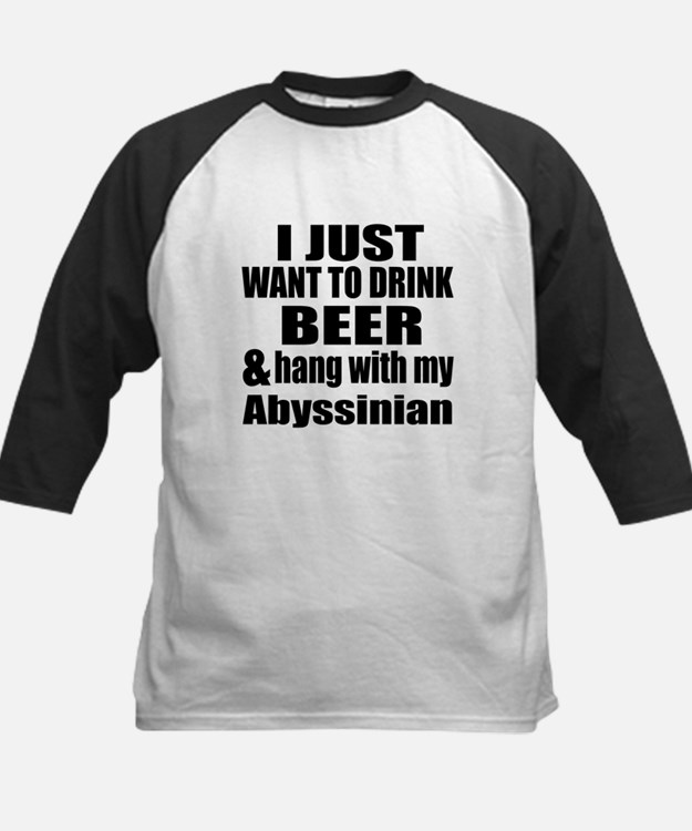 Hang With My Abyssinian Kids Baseball Jersey