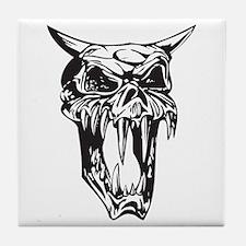 Evil Demon Skull Tile Coaster