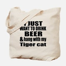 Hang With My Tiger cat Tote Bag