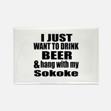 Hang With My Sokoke Rectangle Magnet