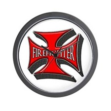 FIREFIGHTER Maltese Cross Wall Clock