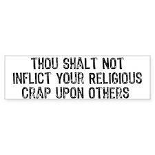 Anti-Religious Bumper Bumper Sticker