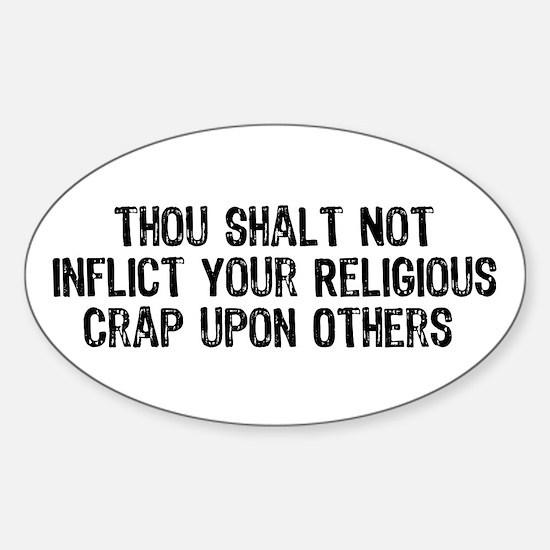 Anti-Religious Oval Stickers