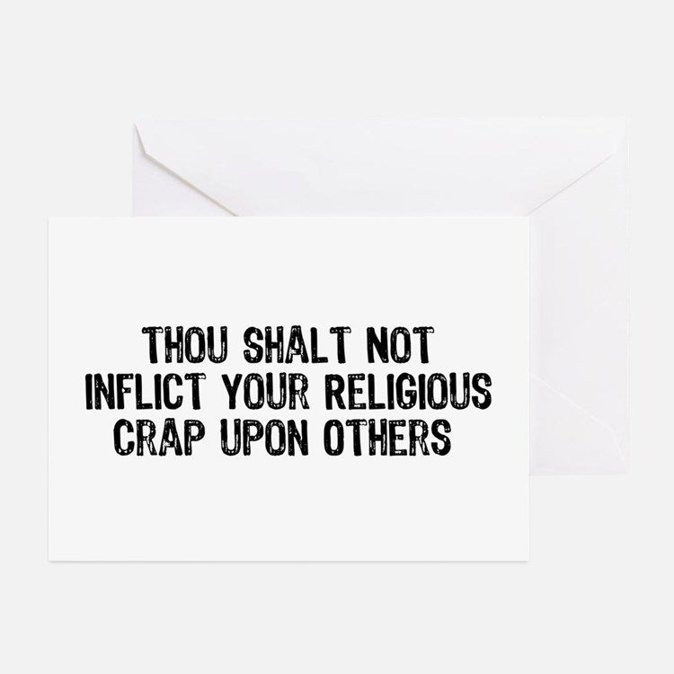 Anti-Religious Greeting Cards (Pk of 10)
