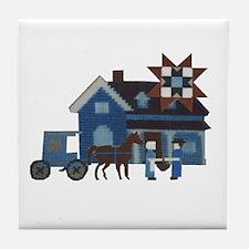 Amish People Tile Coaster