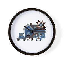Amish People Wall Clock